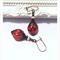 Pomegranate Czech glass earrings with Swarovski pearls