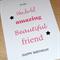 Female Happy Birthday card - Wonderful amazing beautiful friend