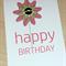 Female Happy Birthday card - pink flower