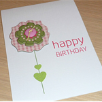 Female Happy Birthday card - flower