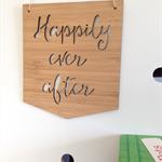 Happily Ever After Wooden Bamboo Door / Wall hanging