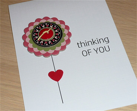 Thinking of you card - flower