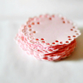 Pastel Pink Envelope Seals | Pink Doily Paper Stickers | New Baby Girl Baptism