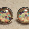 Glass Dome Cabochon Stud Earrings