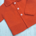 Little Cardigan & Helmet - Hand Knitted - Size 0 - 100% Australian Wool