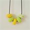 Large bead colourful polymer clay necklace- handmade, funky, happy