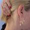 Pearl Earrings, Gold Hoop Earrings, Wedding Earrings, Gold Filled, Dangle