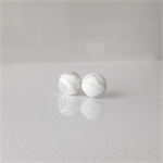 MARBLEOUS Grey Dome Studs