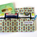 Tea Bag Wallet  / Travel Tea Purse - Retro Music Cassettes