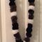 Monochromatic POMPOM garland.  Black/grey/white.