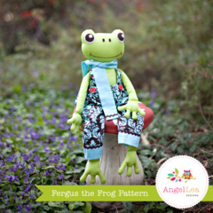 Frog Pattern. Fergus the Frog Softie PDF Sewing Pattern