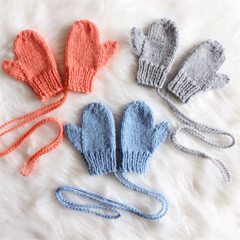 Hand Knitted Toddler Unisex Mittens | 6M-36M | Custom Colour | Made to Order