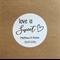 Personalised labels - Love is Sweet