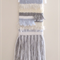 Weaved Wall Hanging, Light Blue, Cream, White and Grey with Fringing