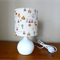 The Three Little Pigs Nursery Touch Tamp   Ceramic Base and Fabric Shade