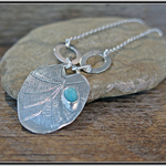 LILYPAD, STERLING SILVER & AMAZONITE NECKLACE