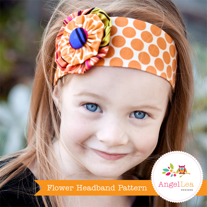 Flower Headband Tutorial: Funky Flower Headband Pattern. PDF Sewing Pattern And