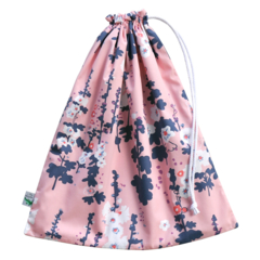 Swim Bag / Waterproof Wet Bag. Coastal Flowers. Pool or Beach Bag.