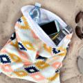 Swim Bag / Waterproof Wet Bag. Coastal Flowers. Pool or Beach Bag.