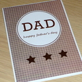Happy Birthday OR Father's Day card - 3 stars
