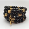 Black & Gold Crystal Cuff