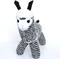 'Archie' the Sock Alpaca -  navy blue and cream stripes - *READY TO POST*