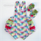 Pastel Check SUNSUIT Playsuit and Shoes Vintage Style Ruffles 6-9m Baby Girl