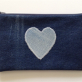 Upcycled Denim Pencil Case