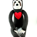 'Sheldon' the Sock Sloth-with felt heart (you choose the colour) - MADE TO ORDER