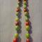 Green, red, sliver necklace