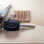 Wood Dad / Daddy / Pa / Pop / Papa keyring