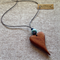 Solid heart Pendant handcrafted from Sheoak #h16