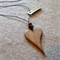 Solid Heart Pendant handcrafted from Oak #h11
