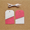 Gift Tags (set of 2), Pink and White