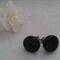 Black Glitter Polymer Clay Stud  Earrings