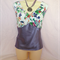 TWO TONE   FLORAL TOP size 18