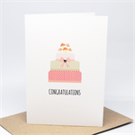 Engagement Card, Wedding Card, Birthday Card - 3 Tier Cake - ENG025