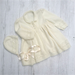 Diamond Carrying Coat and Bonnet - 6 to 12 months