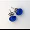 Blue Fused Glass Mini Stud Earrings