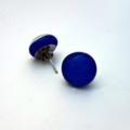 Burst of Colour Blue Fused Glass Earrings