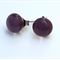 Purple Fused Glass Mini Stud Earrings