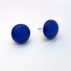 Burst of Colour Blue Fused Glass Earrings