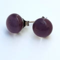 Purple Fused Glass Mini Stud Earrings