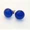 Blue Fused Glass Mini Stud Earrings