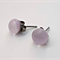Pale Pink Fused Glass Mini Stud Earrings