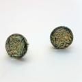 Burst of Colour Salmon Crackle Fused Glass Earrings