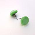 Burst of Colour Mint Green Fused Glass Earrings