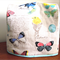 Fabric Cover to fit Thermomix or Overlocker. Butterflies and Birds.