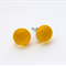 Yellow Fused Glass Mini Stud Earrings