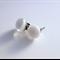 White Fused Glass Mini Stud Earrings